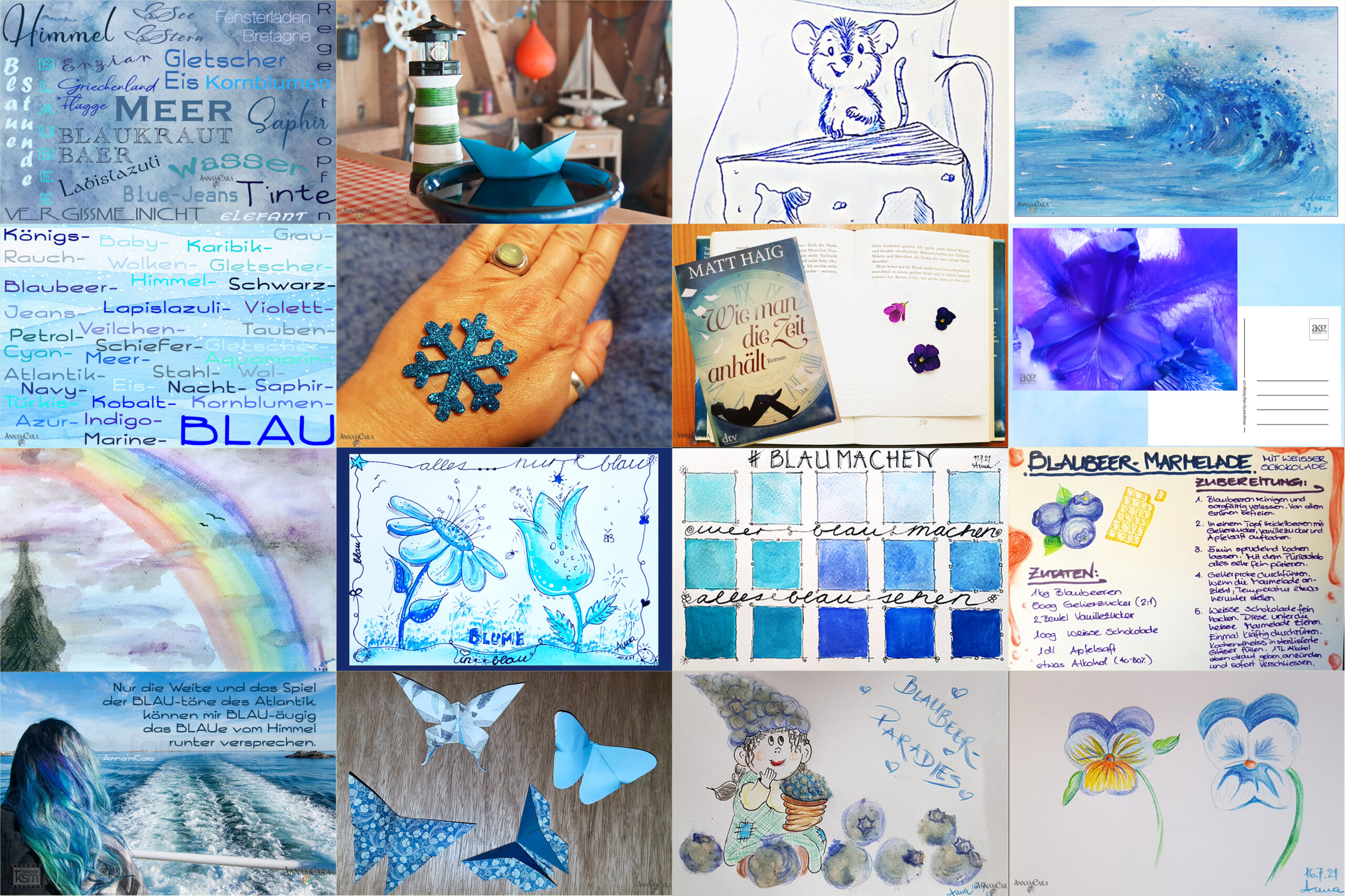 Blau machen im Juli – Tage 10 – 16