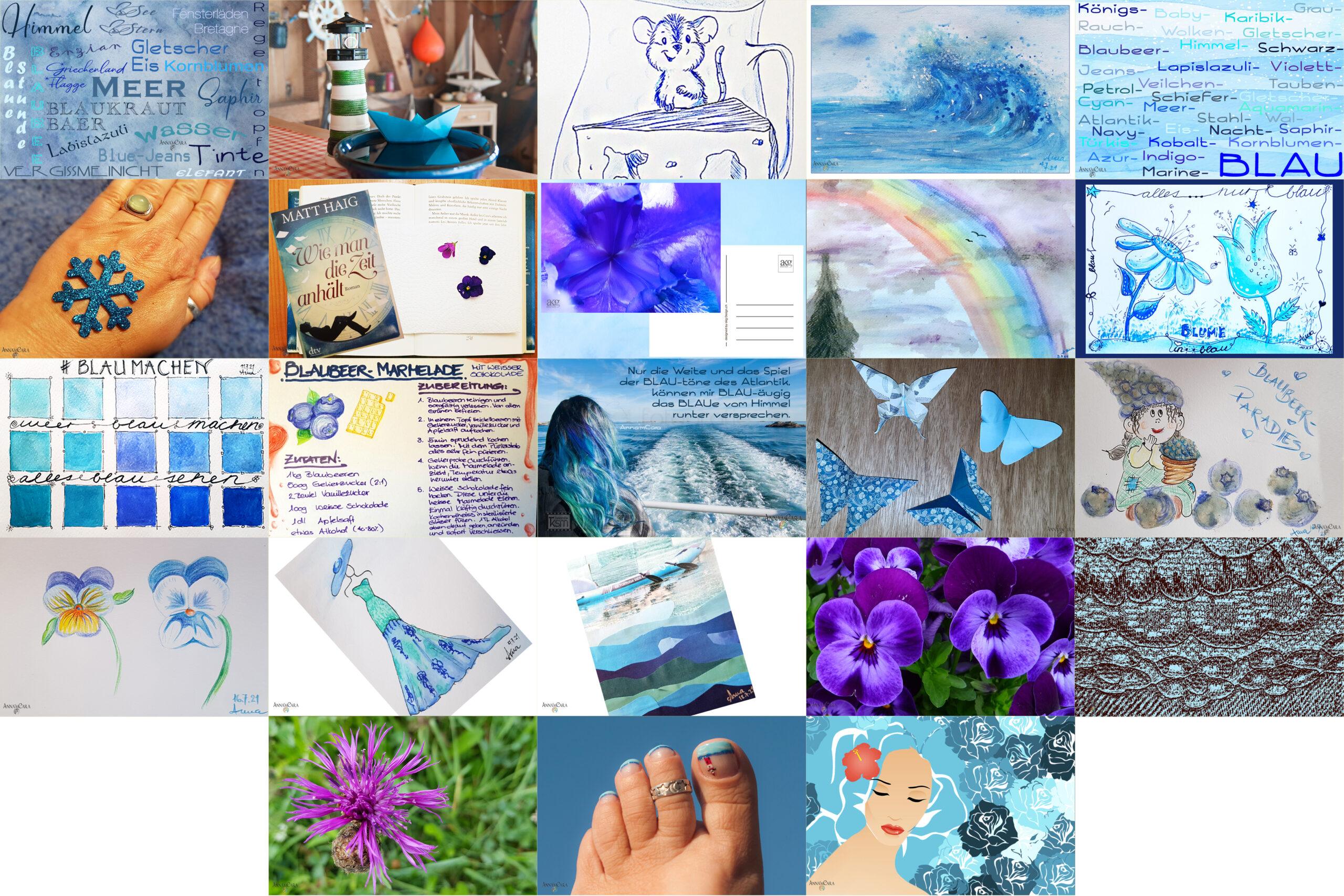 Blau machen im Juli – Tage 17 – 23