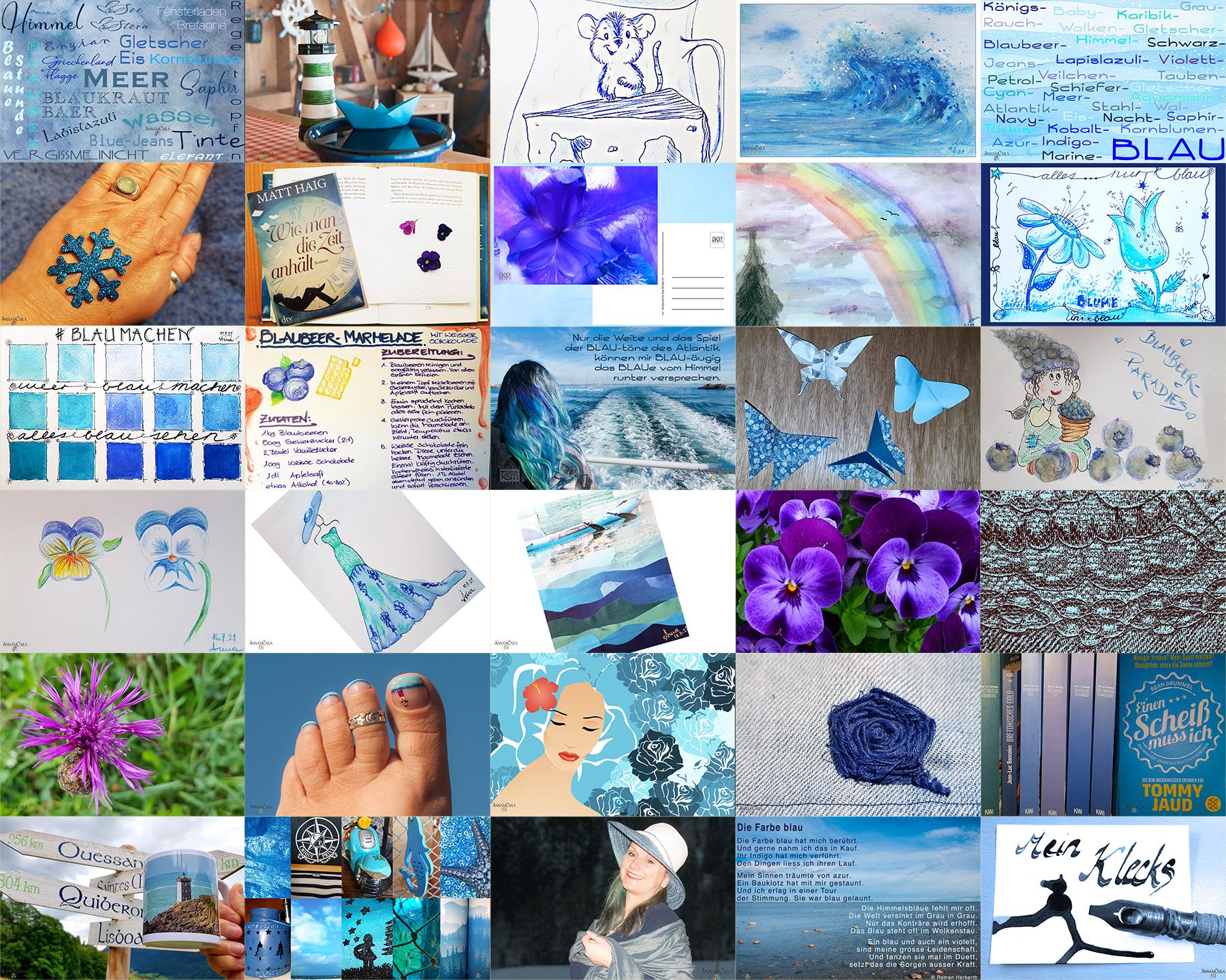 Blau machen im Juli – Tage 24 – 31
