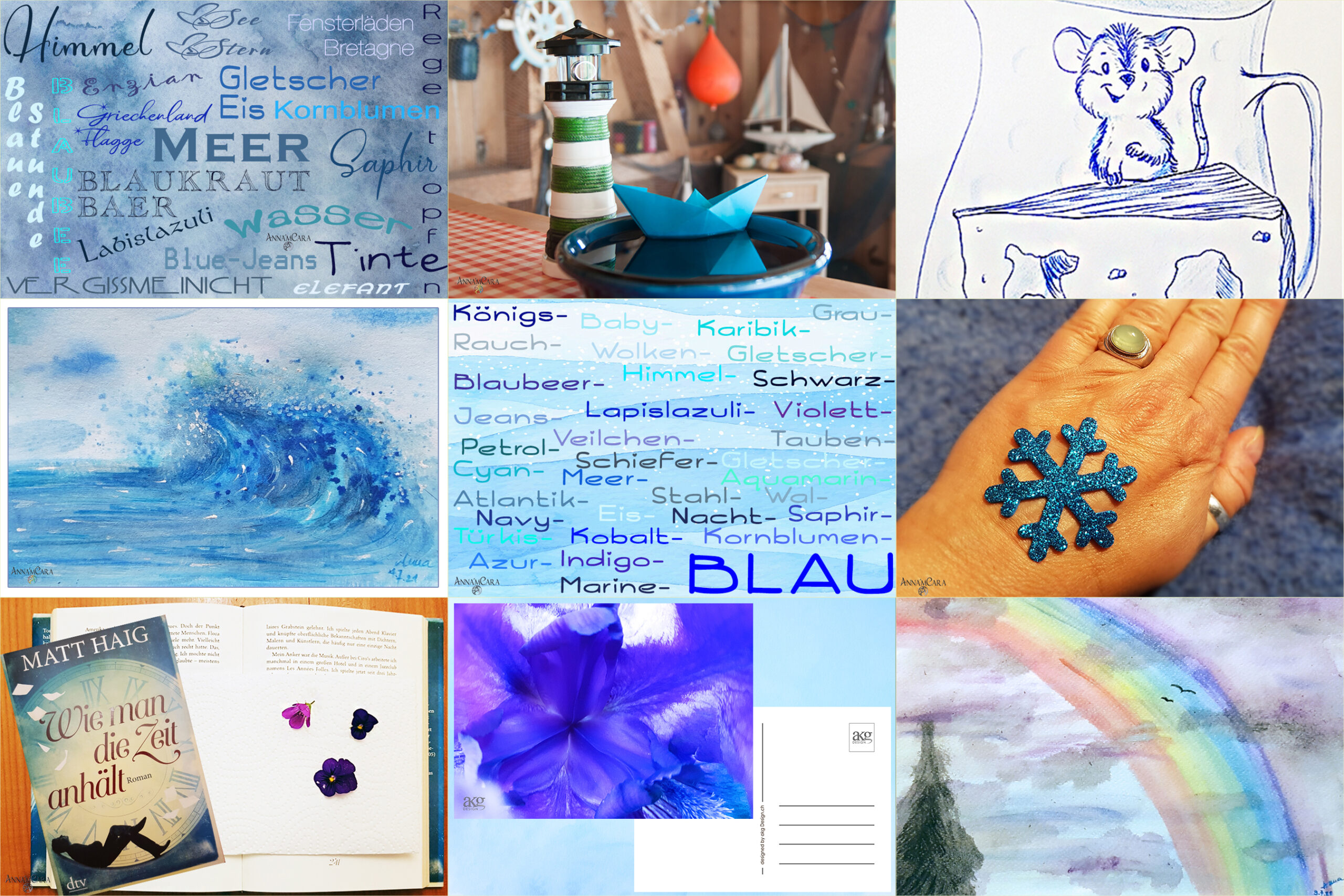 Anna'mCara-Blog - Blau machen 1.-9. Juli 2021 - Titelbild