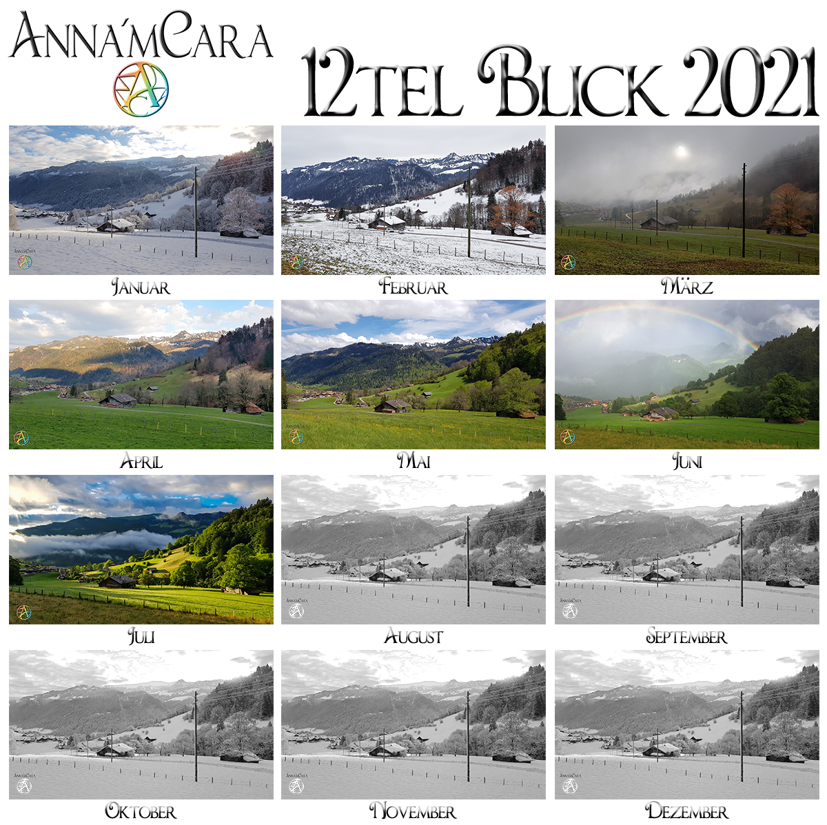 Anna'mCara-Blog - 12tel-Blick - Jahresblick - Juli