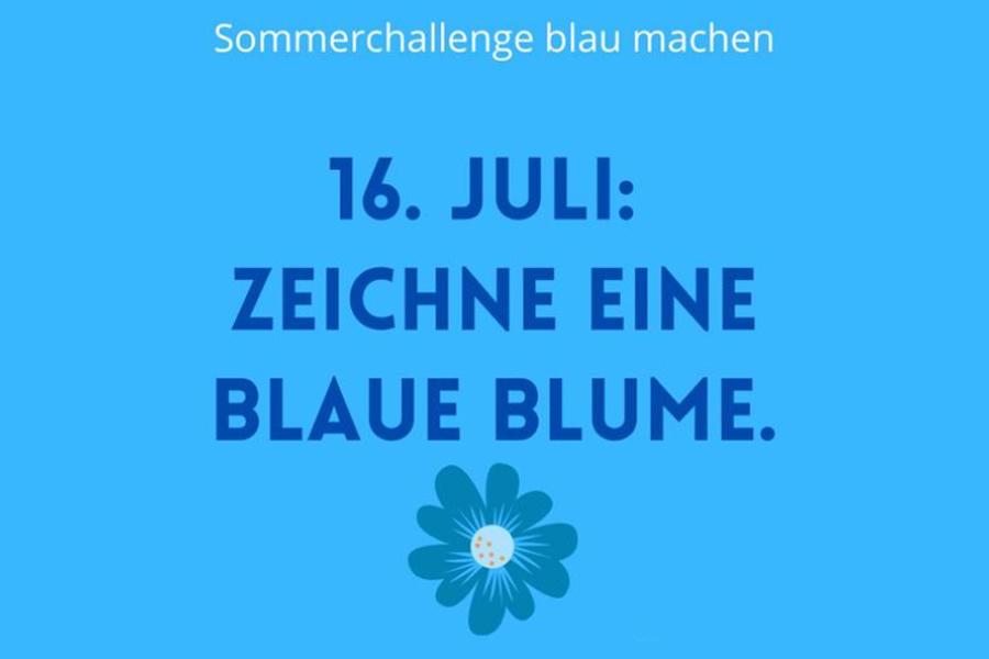 Anna'mCara - Blau machen 2021 - Tagesaufgabe 16