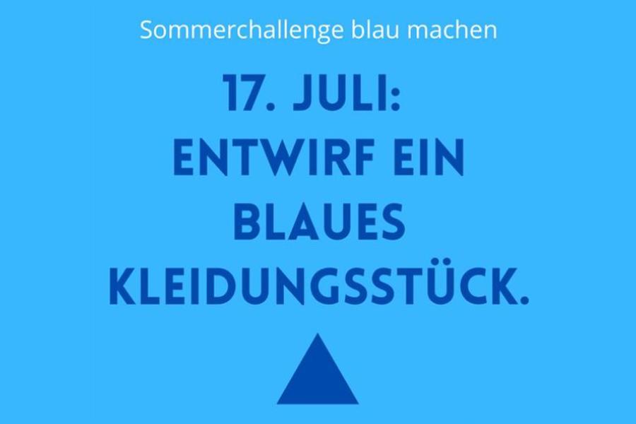 Anna'mCara - Blau machen 2021 - Tagesaufgabe 17